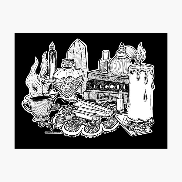 love witch altar Photographic Print