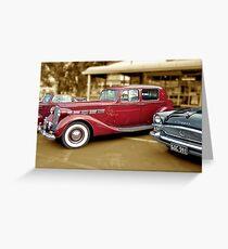 1937 Packard Super 8 Club Sedan and 1955 Packard Clipper Greeting Card