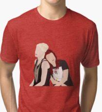 Skins UK - Naomi and Emily  Tri-blend T-Shirt