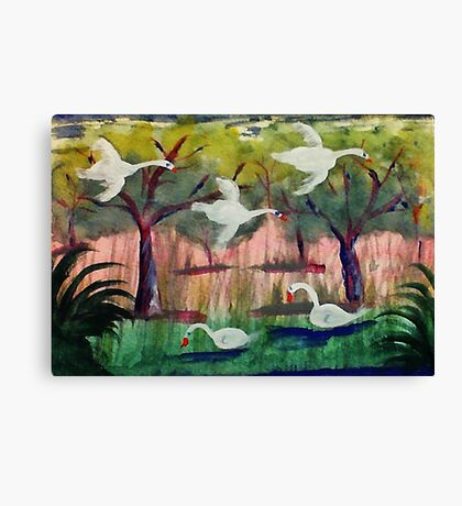 Moven on, watercolor Canvas Print