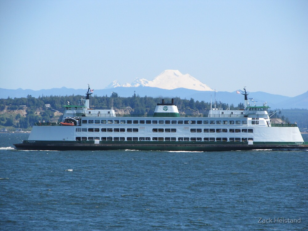 Washington State Ferry Kittitas and Mt. Baker by Zack Heistand