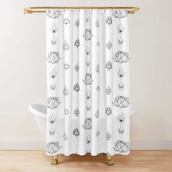 Lotus Stickers - PACK (7) Shower Curtain