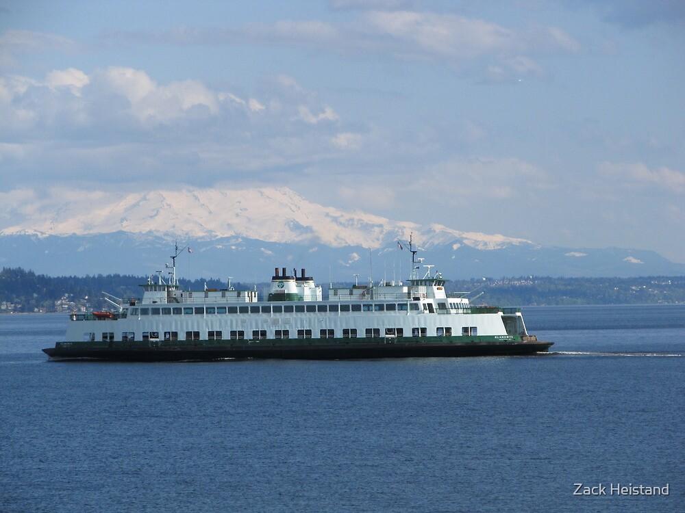 Washington State Ferry Klahowya and Mount Rainier by Zack Heistand
