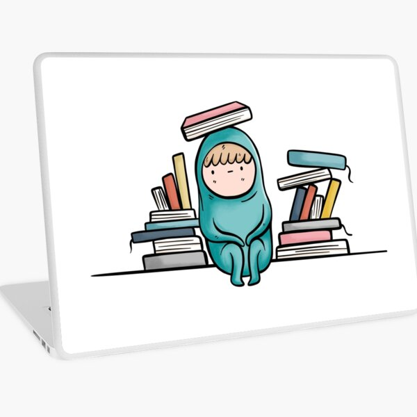 Book Reading Introvert Problems Laptop Skin