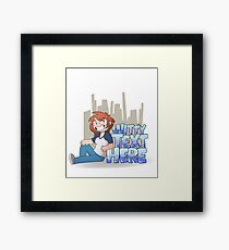 [insert witty text here] Framed Print
