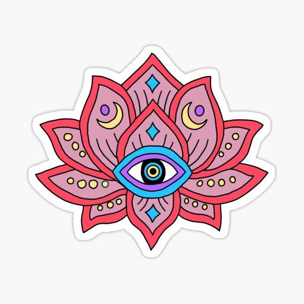 Evil Eye Lotus Sticker
