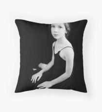 Portrait of a girl Throw Pillow
