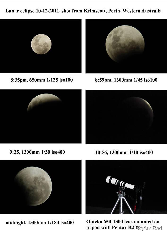 luna eclipse 10-12-2011 by BigAndRed