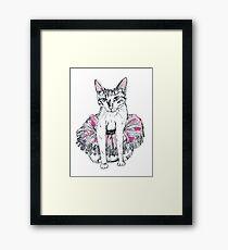 Cat in tu-tu Framed Print