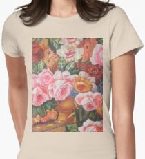 Flower painting Womens Fitted T-Shirt