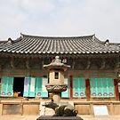 Pig Sculpture, Bulguksa Temple, Geongju, Korea by Jane McDougall