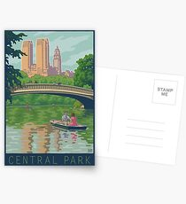 Postales Vintage Central Park: The Lake and Bow Bridge