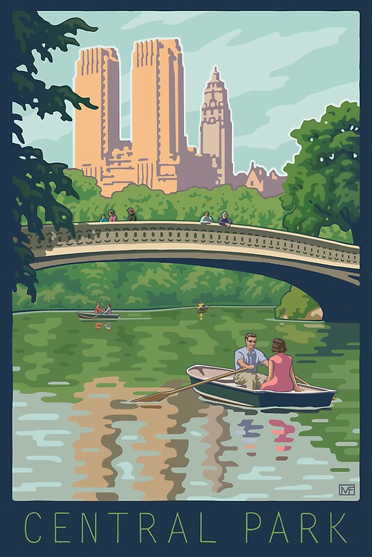 Quot Bow Bridge In Central Park Quot Posters By Mitchfrey Redbubble