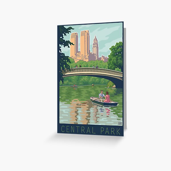 Bow Bridge in Central Park Greeting Card