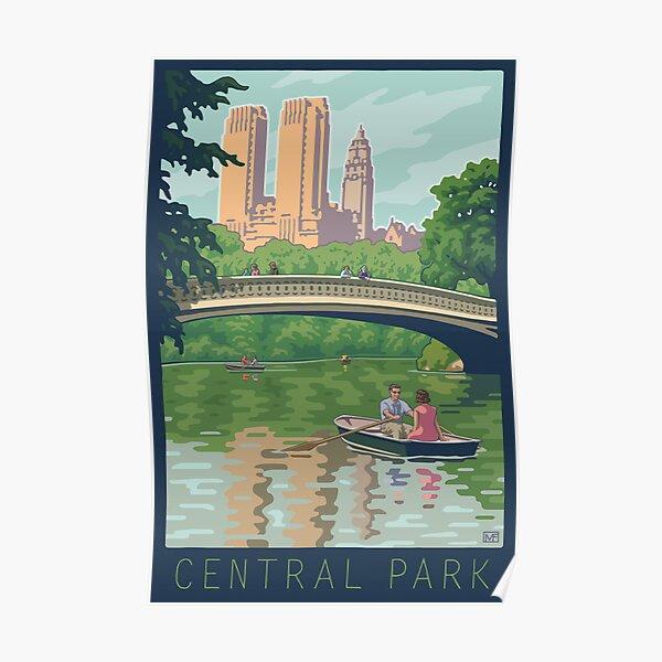 Bow Bridge in Central Park Poster