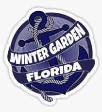 Winter Garden Florida anchor swirl Sticker
