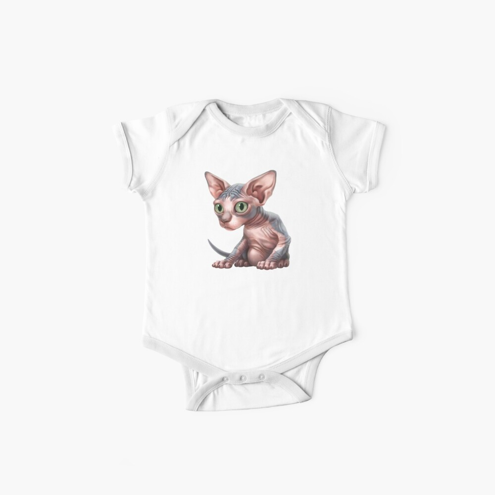 Cat-a-clysm: Sphynx kitten - Classic Baby One-Pieces