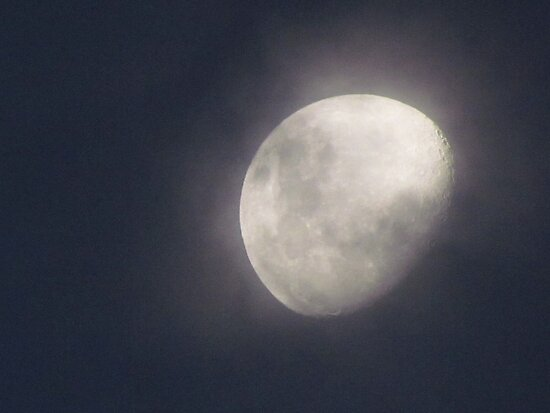 Cloudy Moon ~ by chrissy mitchell
