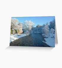 River Coquet in Winter Greeting Card