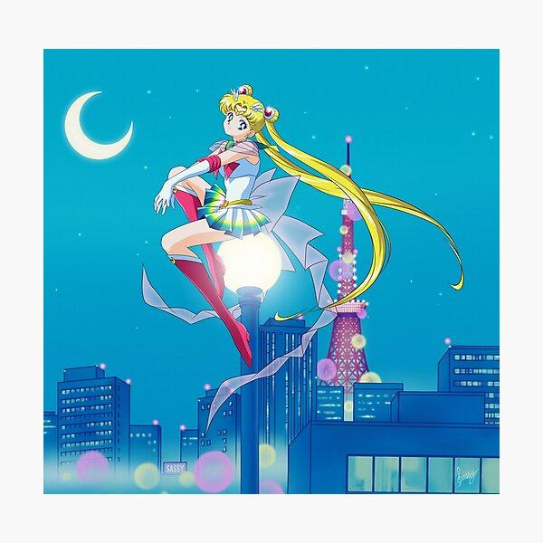 Super Sailor Moon ~ Tokyo City Lights Photographic Print