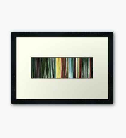 Moviebarcode: The Animatrix 9: Matriculated (2003) Framed Print