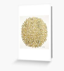 Golden Burst Greeting Card