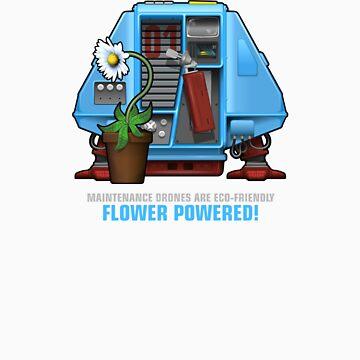 Silent Running, Flower Powered (Dewey Maintenance Drone 01) by Pango
