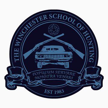 Winchester School of Hunting - Logo Sticker by digitalsprawl