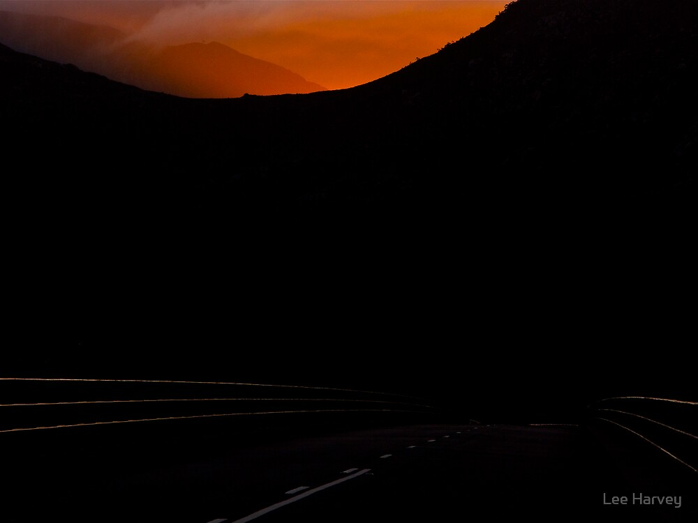 Light Falls on the Road to Cradle Mountain by Lee Harvey