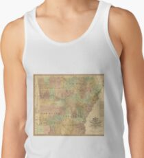Vintage Map of Arkansas (1839) Tank Top