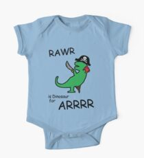 RAWR is Dinosaur for ARRR (Pirate Dinosaur) Kids Clothes