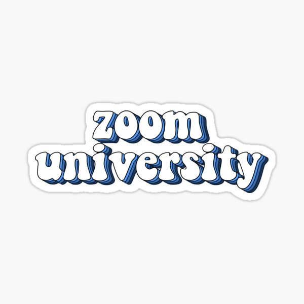 zoom universidad Pegatina