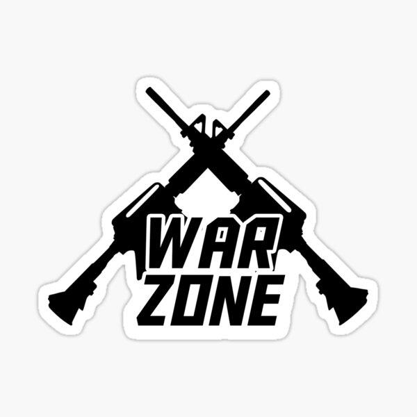 Diseño de zona de guerra Pegatina