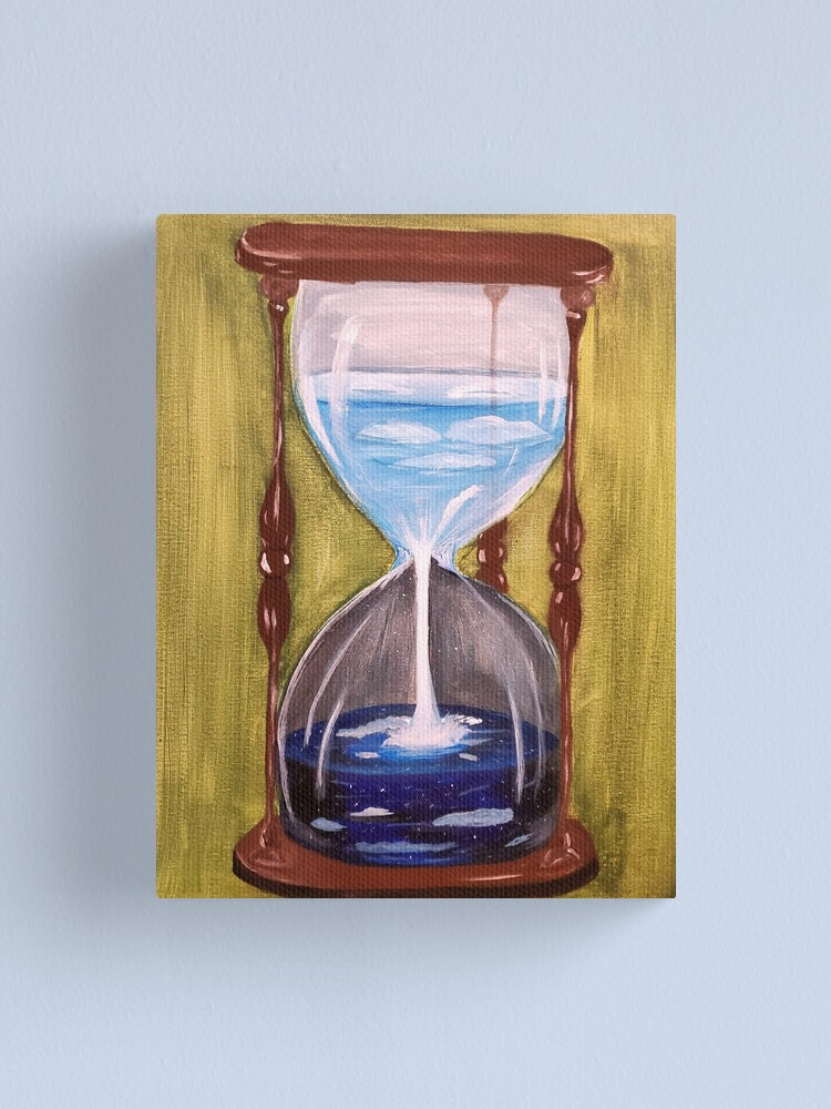 Acrylic Painting Of Hourglass Canvas Print By Painttime Redbubble