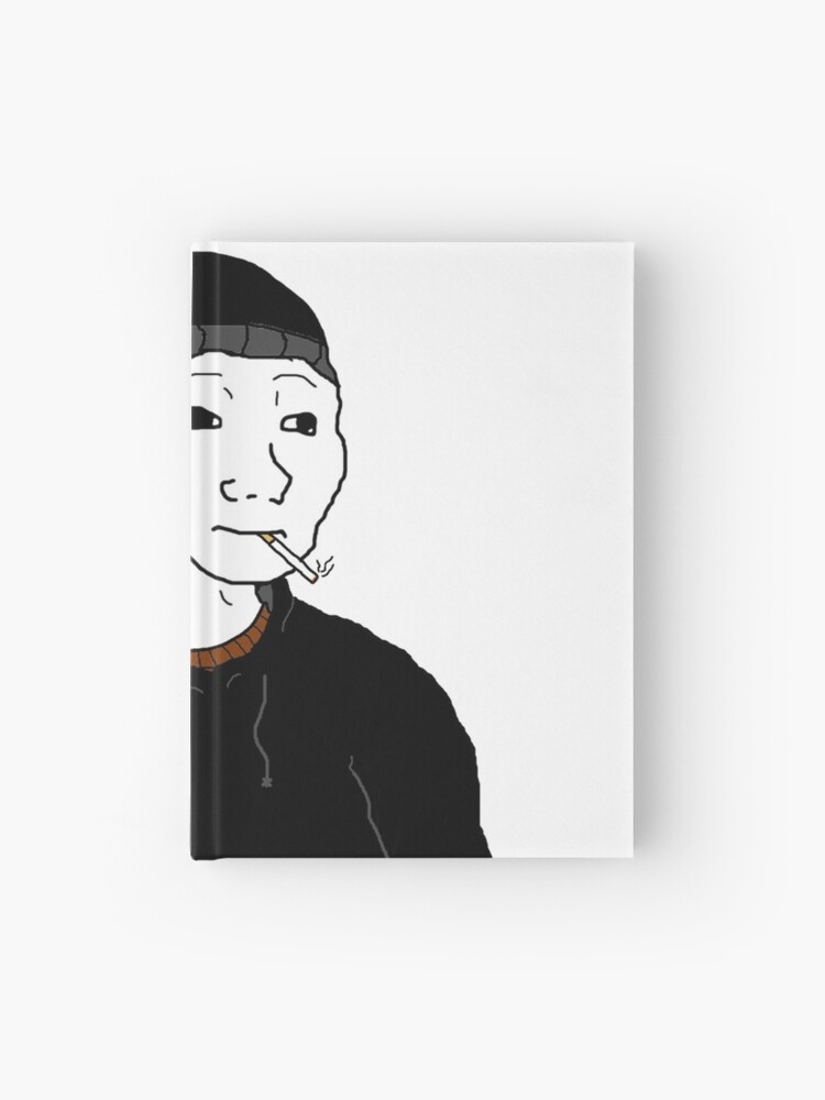 The Doomer Wojak Meme Hardcover Journal By Strawberryvery Redbubble