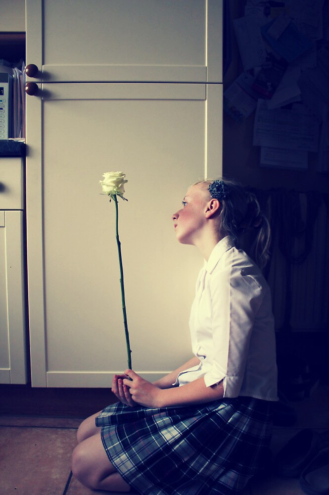 A white Rose for a forgotten soul! by Lottieemalyon