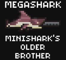 MegaShark Gun Terraria White Writing   Unisex T-Shirt