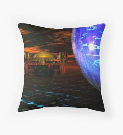 The Last Outpost Throw Pillow