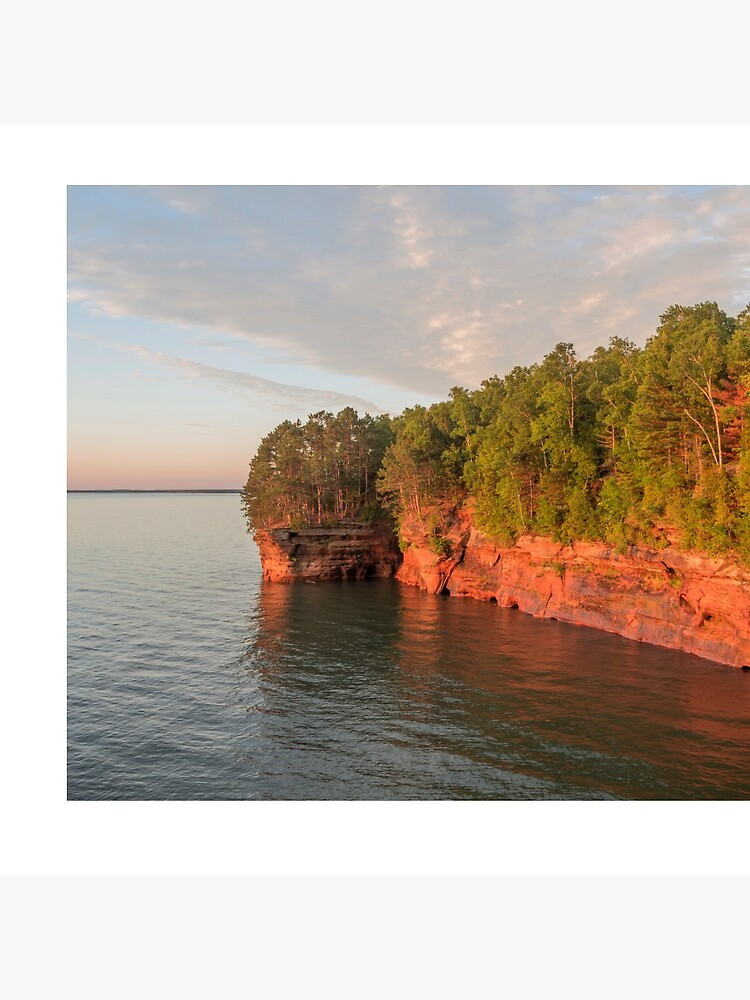 Golden Hour Above Lake Superior Caves by samwagnerphoto