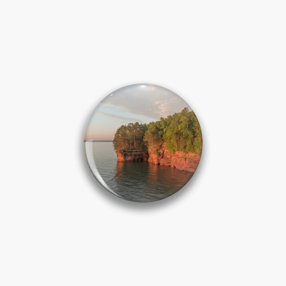 Golden Hour Above Lake Superior Caves Pin