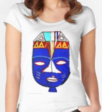 Blue Mask by Josh 2 T-Shirt Women's Fitted Scoop T-Shirt