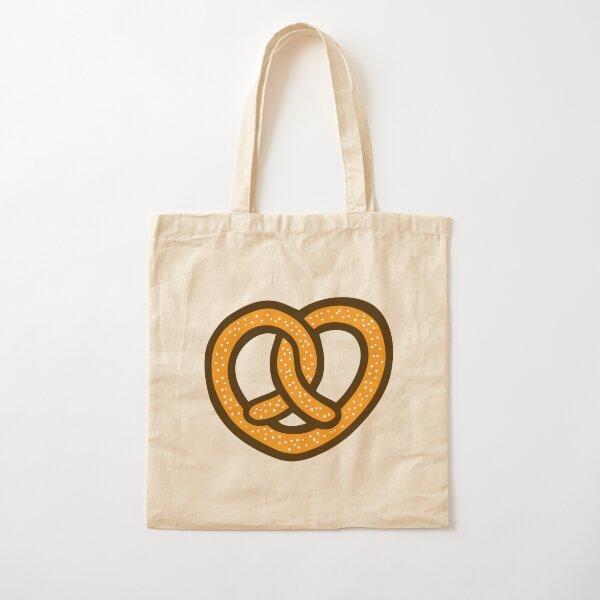 I Heart Pretzels Pattern Cotton Tote Bag