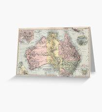 Vintage Map of Australia (1891) Greeting Card