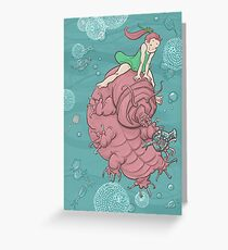 Full-Color Water Bear and Water Baby Greeting Card