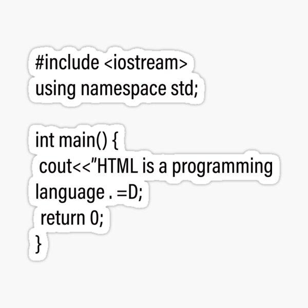 HTML joke Sticker