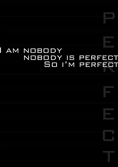 I Am Perfect by ModeDesigns