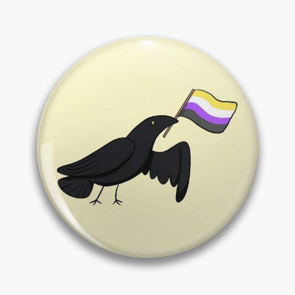 Pride Corvids - Nonbinary Pin