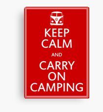 Keep Calm and Carry On Camping - Splitty Canvas Print