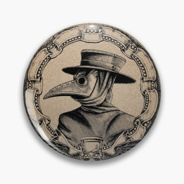 Vintage Plague Doctor Pin