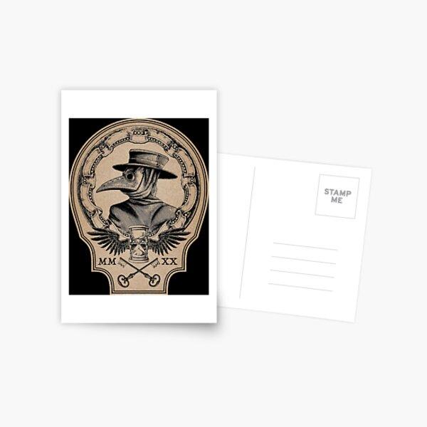 Vintage Plague Doctor Postcard